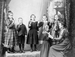 Deaf students 1893