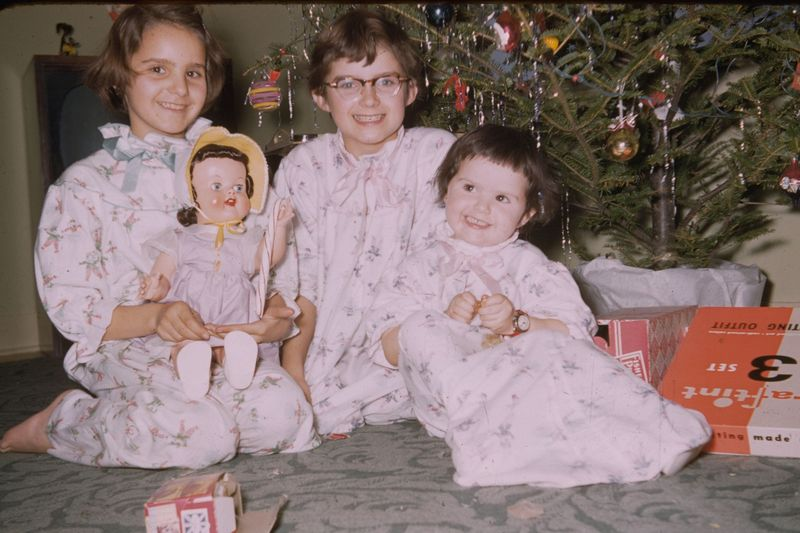 Christmas with dolls