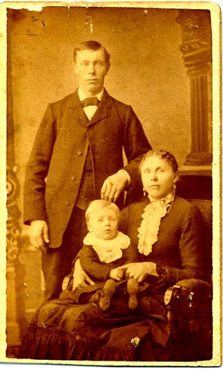 Herman and Mary Lau Hendricks with infant John