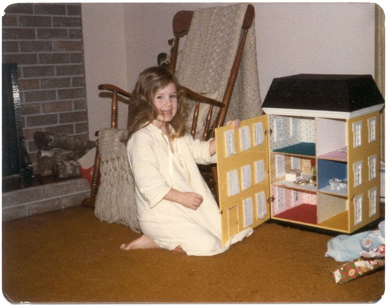 Katherine with doll house