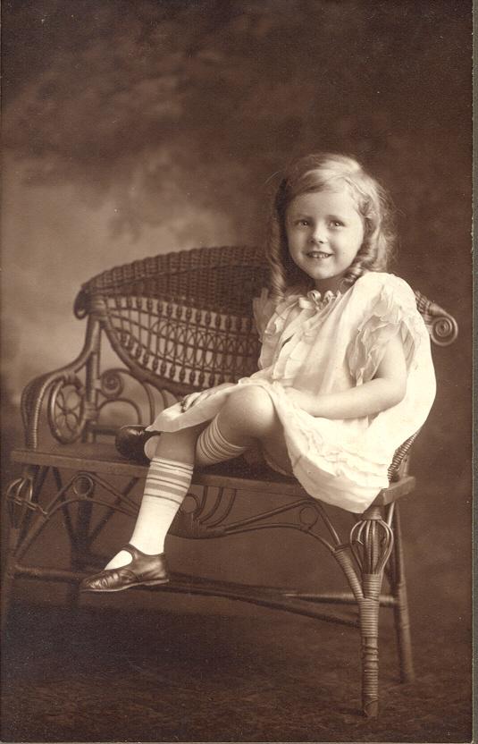 Olive portrait as child